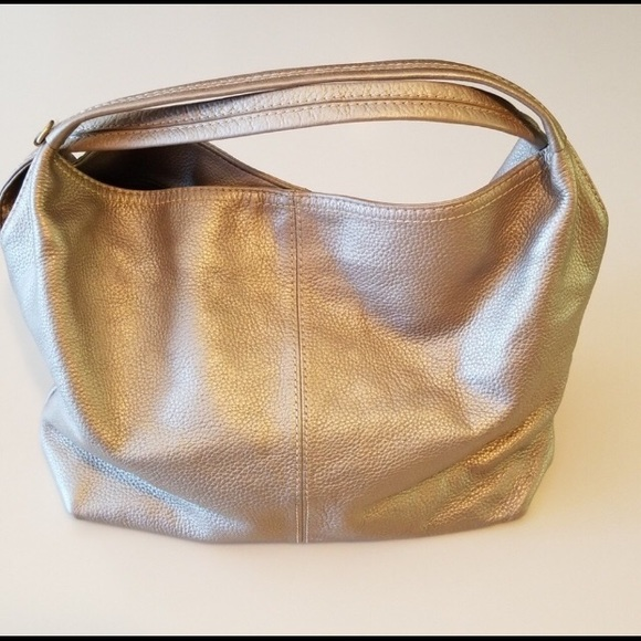 Coldwater Creek Handbags - COLDWATER CREEK GOLD LEATHER HOBO BAG 39e1cdf76c473